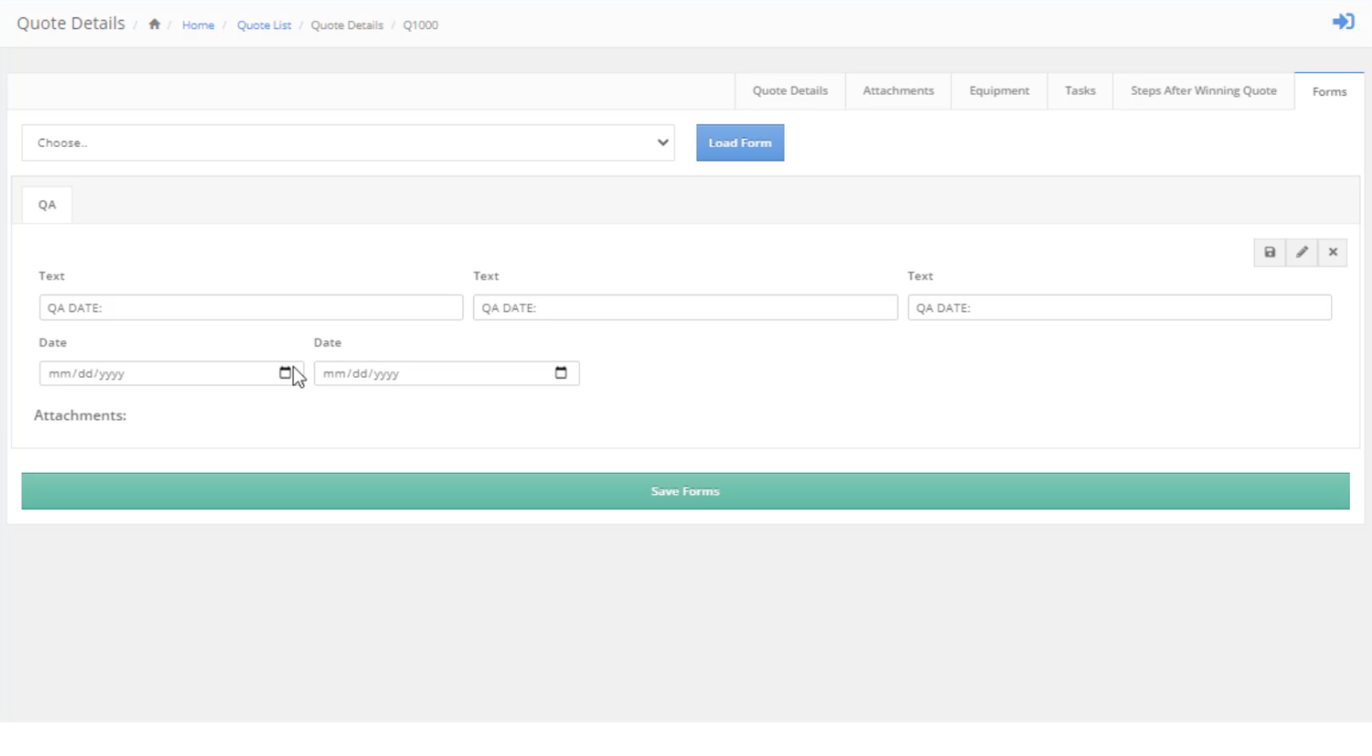 unlimited forms for documentation